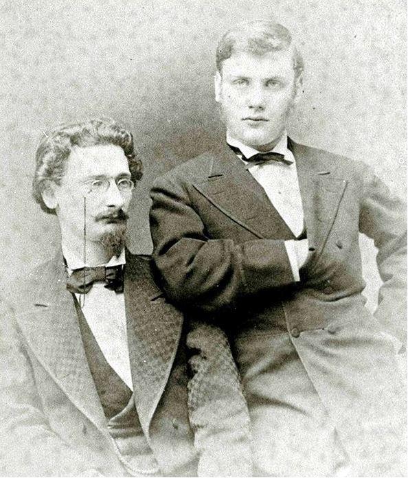 Joseph and Albert Pulitzer 1873