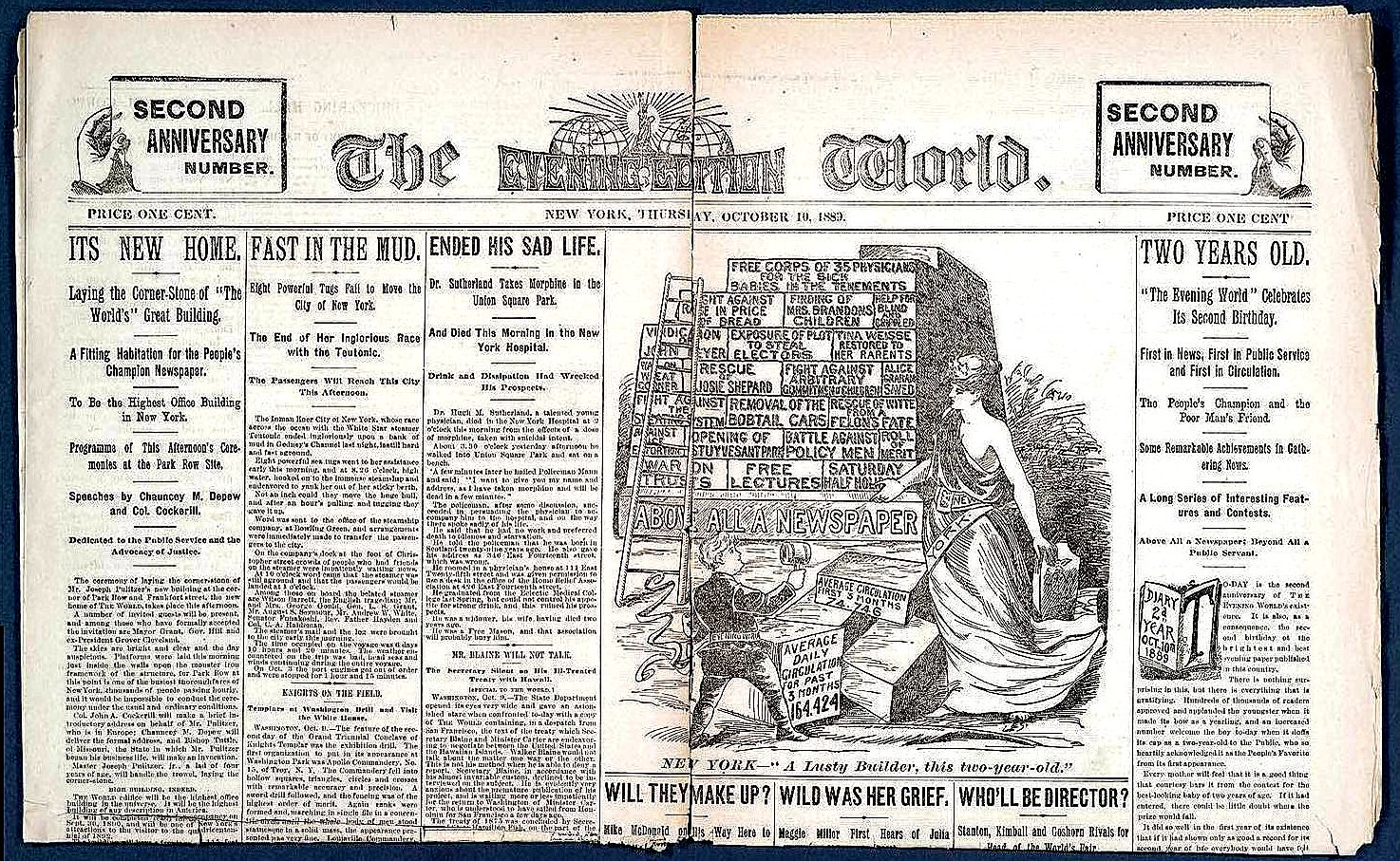 The World - Evening Edition - Second Anniversary Number World Papers - October 10 1889 2